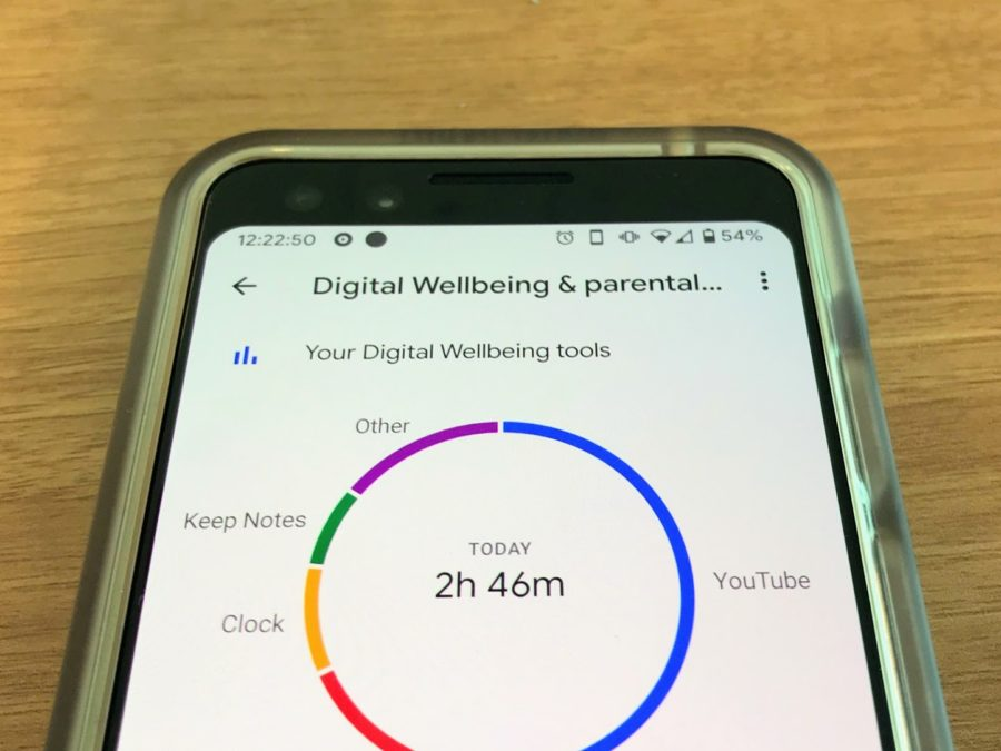 A+device+running+Google%27s+Digital+Wellbeing+software+helps+a+user+measure+the+time+spent+on+specific+apps.+Digital+Wellbeing+helps+Android+users+control+how+they+use+their+device+to+curb+phone+addiction.