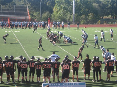 Carlmont football plays against Woodside