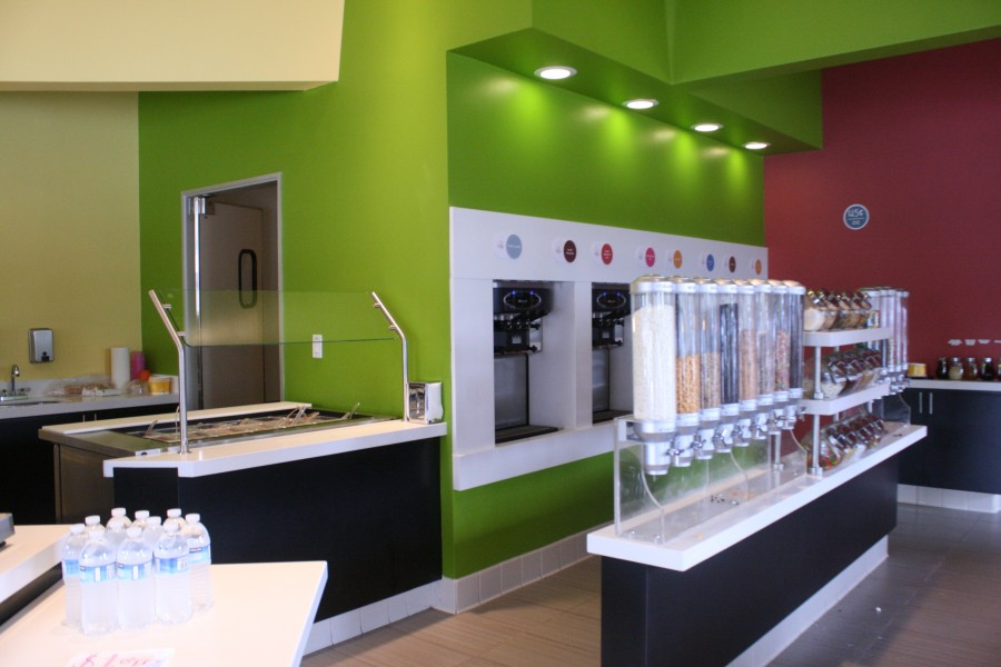 The inside of the newly establish Yoppi Yogurt