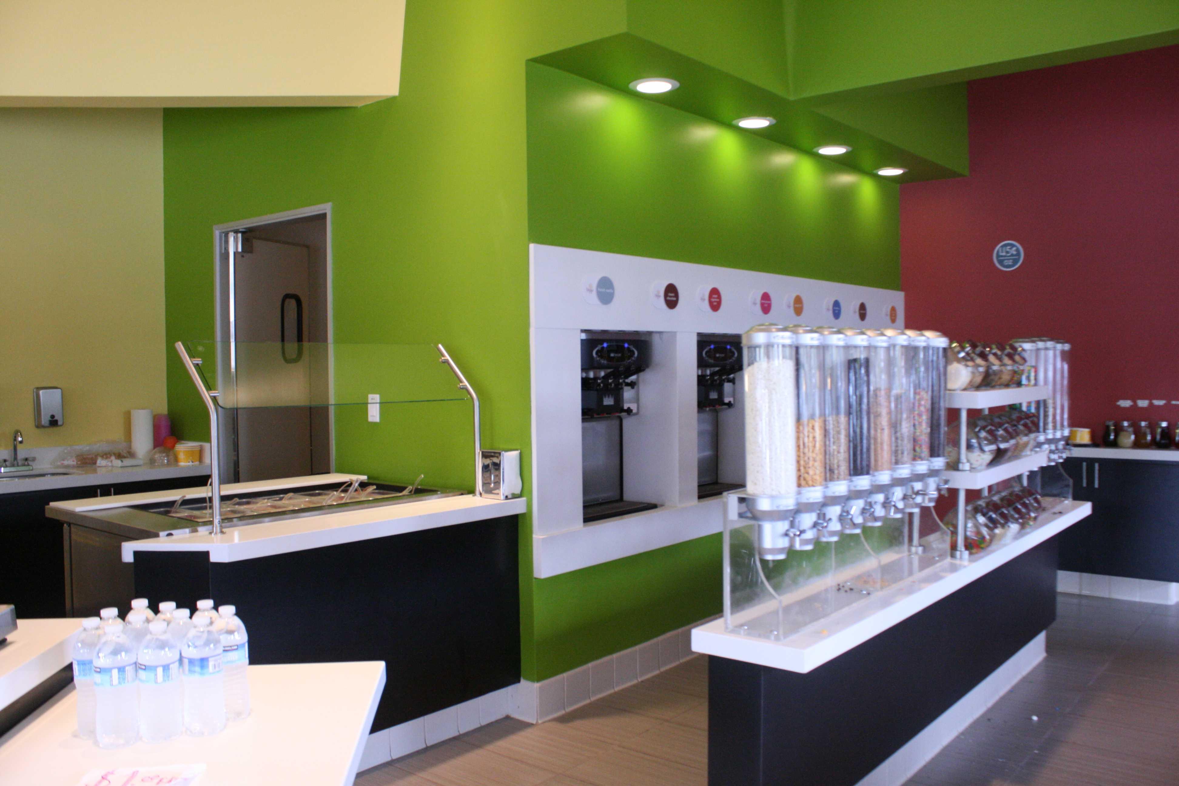 The inside of the newly establish Yoppi Yogurt