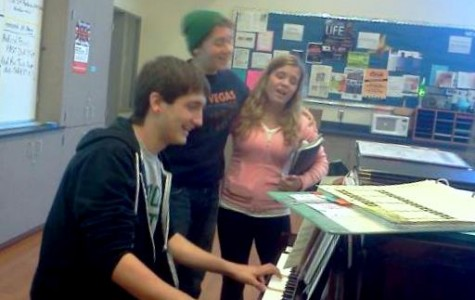 Choir students have fun rehearsing at lunch
