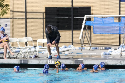 Girls varsity water polo moves up
