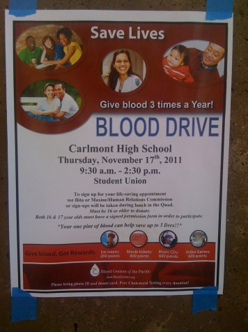 Carlmont hosts blood drive