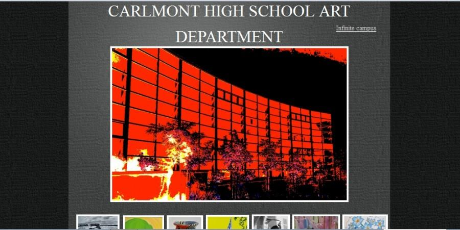 A screenshot of the Carlmont Arts Department website