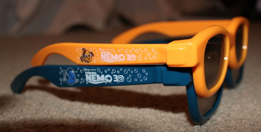 Select movie theaters were giving away limited edition Finding Nemo 3D glasses.