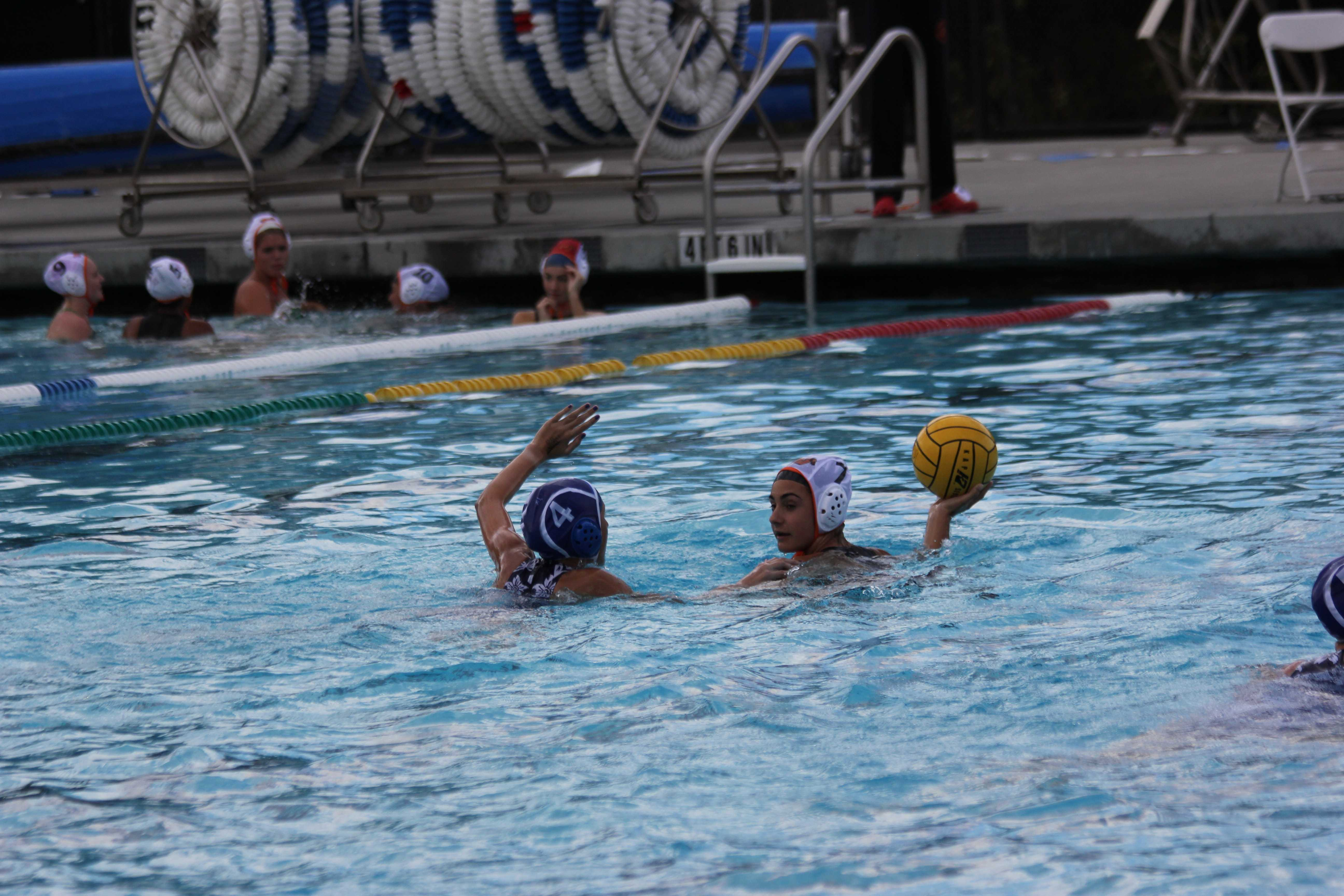 Girls' water polo victorious in first game