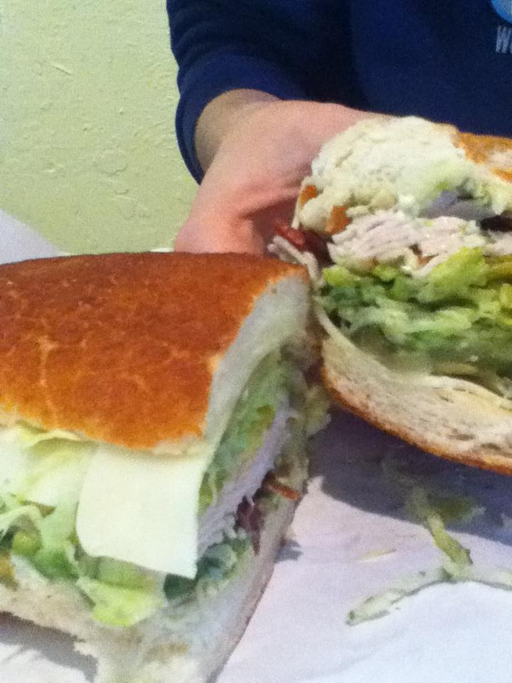 A sandwich personalized by Claudia Leist.