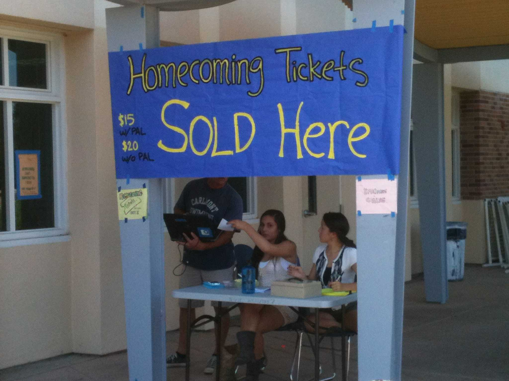 ASB attempting to sell Homecoming tickets at lunch on Wednesday, Oct. 3.