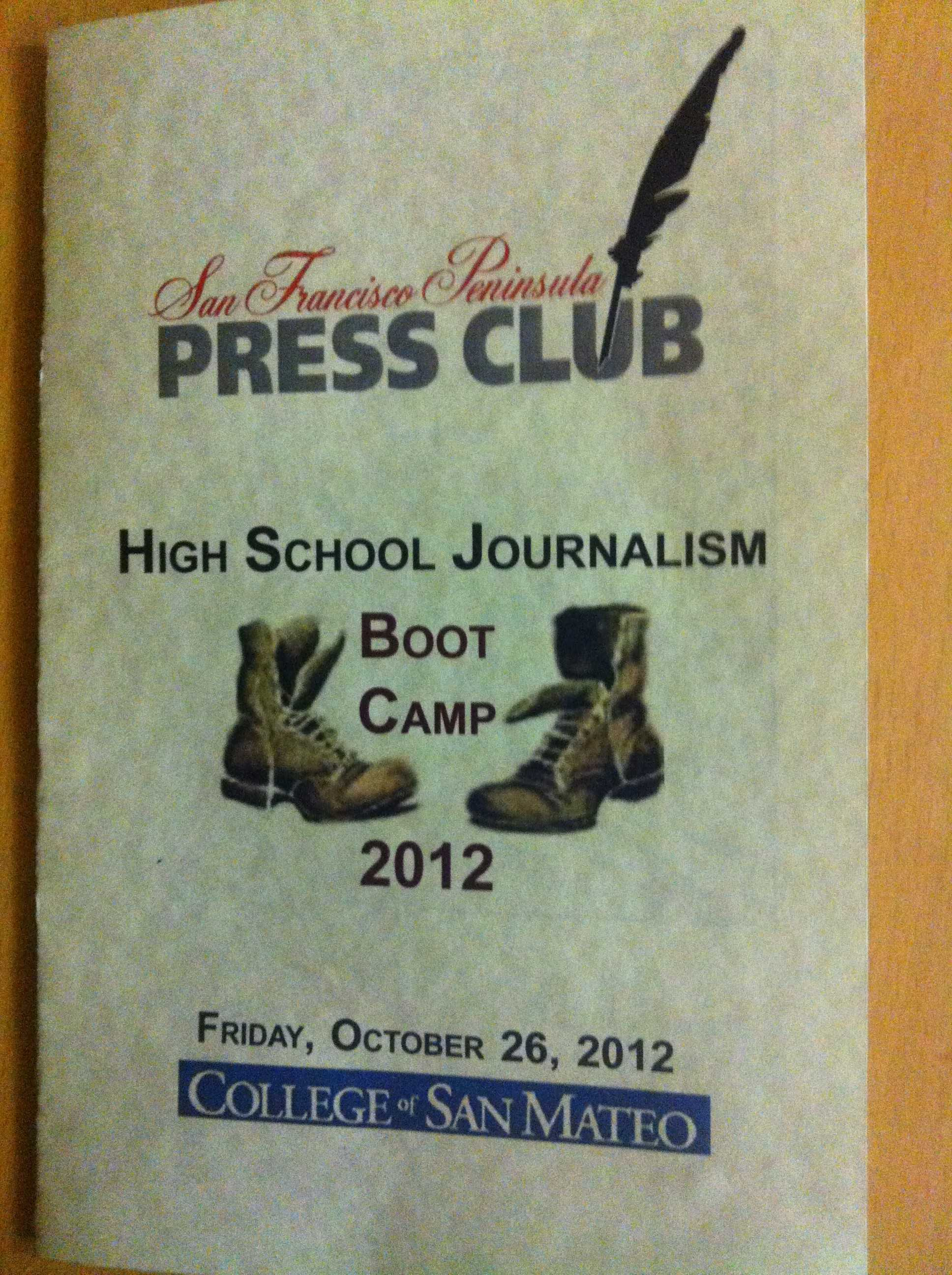 Journalism students attend boot camp at College of San Mateo