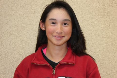 Cori Siddel is the tennis team's number one ranked singles player this season.