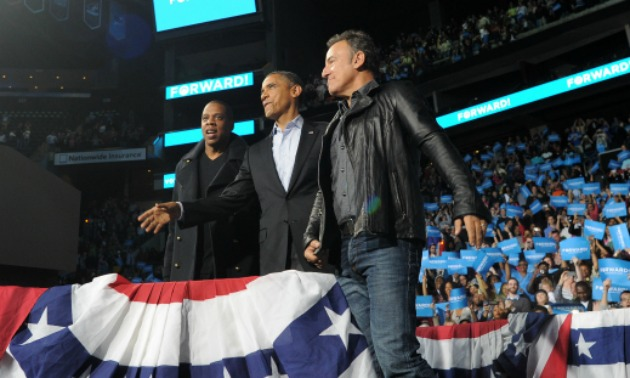 Jay Z and Springsteen with Obama