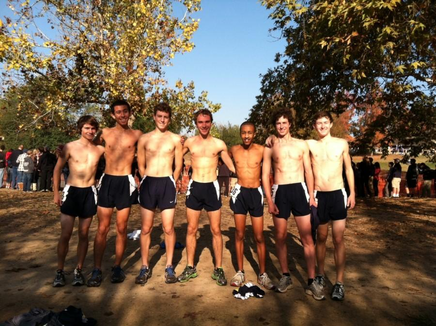 Carlmont's varsity boys team after the CIF State Meet