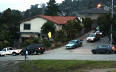 Morning smog: traffic around Carlmont