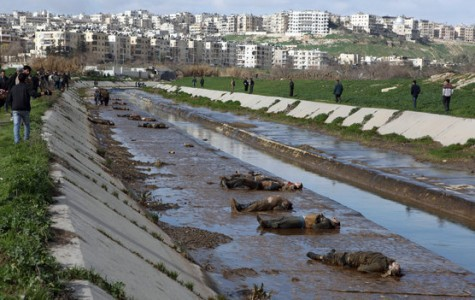 Bodies of shooting victims were found scattered in a suburb of Aleppo, Syria's largest city, on Tuesday. The neighborhood has been mostly under rebel control.