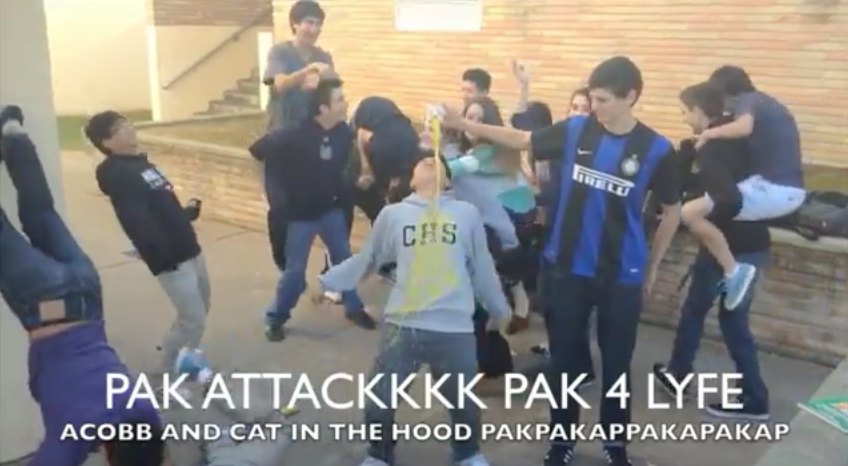 James Pak's campain video as he and some other sophomores do the 'Harlem Shake.'