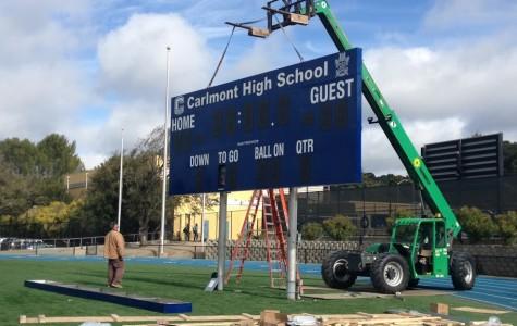 New scoreboard for the field
