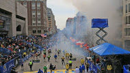 The street view of the Boston Marathon Explosion.