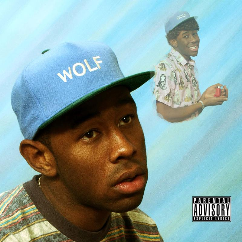 One of three album covers released for 'Wolf'