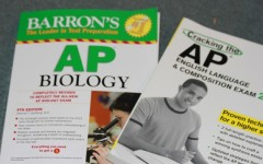 AP practice books used to study for the AP Biology, and AP English test