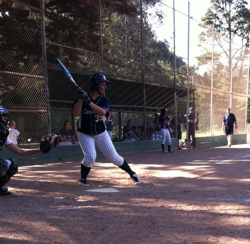 Loucks+braces+herself+at+bat+for+the+oncoming+pitch