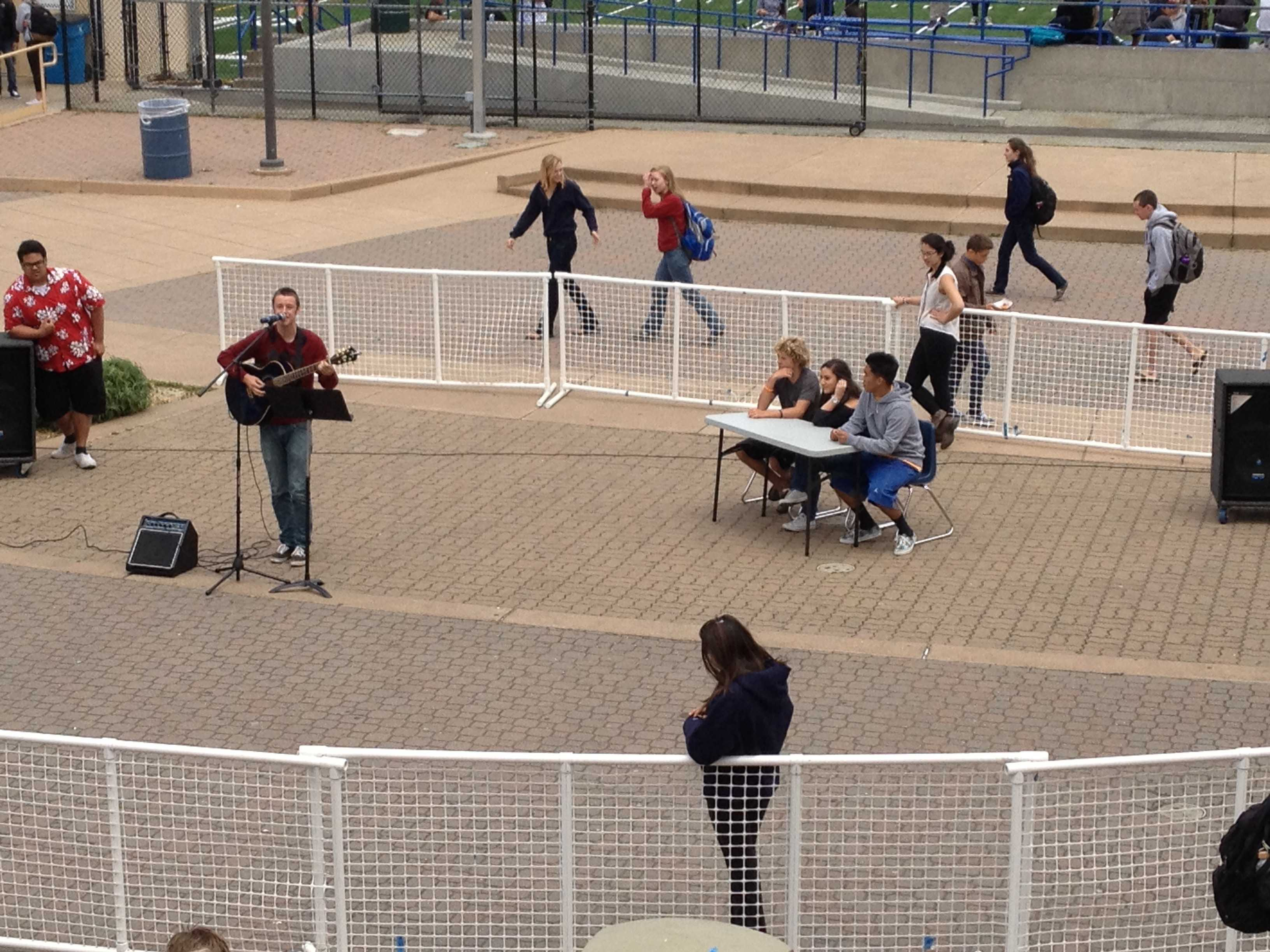 The first day of Carlmont's Got Talent  featured a few musical acts.