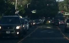 Traffic on Ralston Avenue