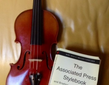 Violin and Associated Press (AP) Stylebook