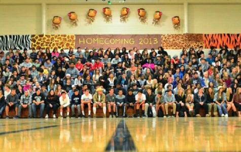 Students during Oct. 25 Homecoming Assembly. Photo credits to Silas Pang.
