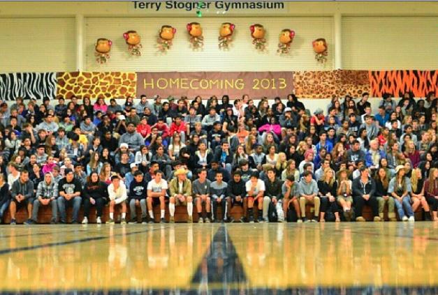 Students+during+Oct.+25+Homecoming+Assembly.+Photo+credits+to+Silas+Pang.