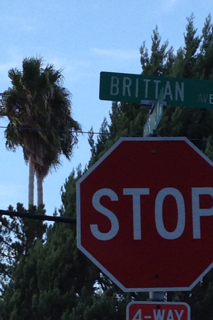 Brittan Avenue intersection in San Carlos