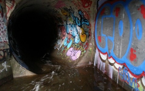 A local drainage pipe in Belmont.