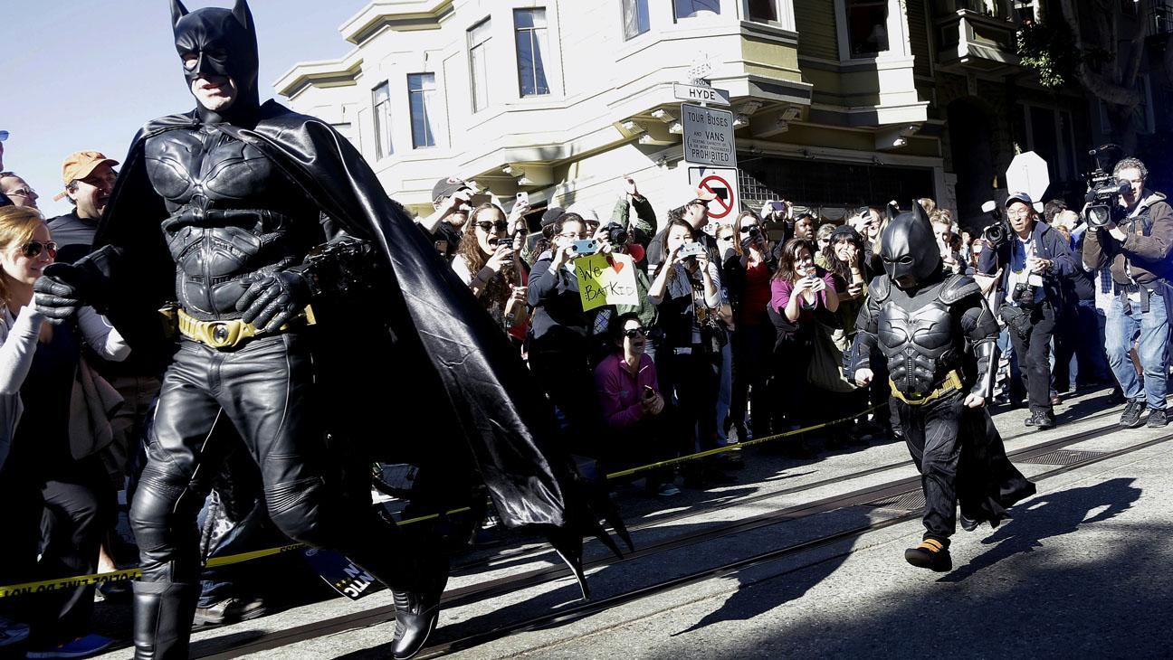 Batkid in action.