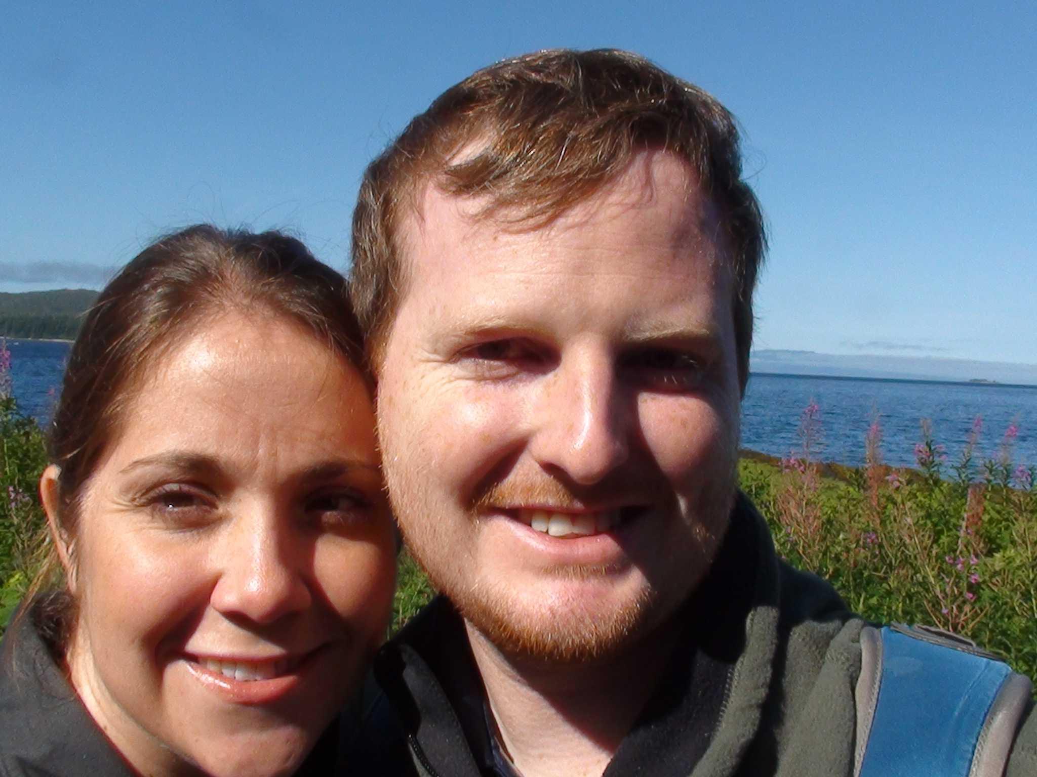 David Talcott with wife, Susie, in Juneau, Ala.