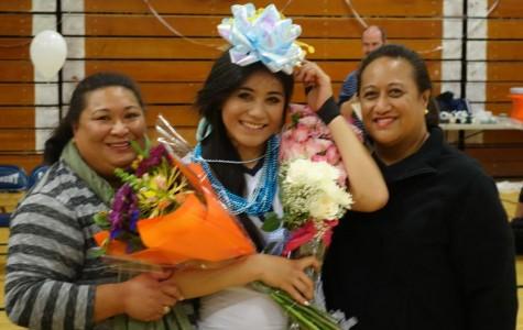 Tupou and family at senior night