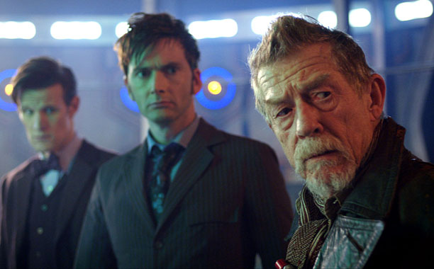 The Doctors (Matt Smith, David Tennant, and John Hurt) race to save Gallifrey and the entire universe.