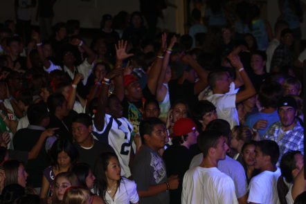 For the first time, Carlmont's homecoming dance had a theme, whiteout.
