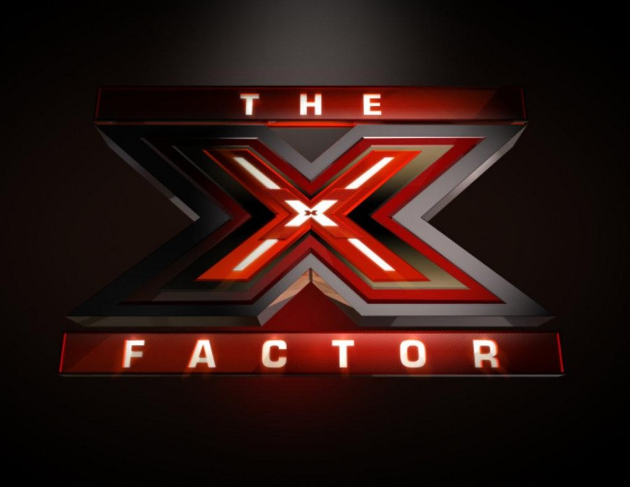 The logo for the show, The X Factor.