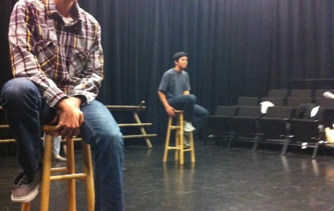 Bobby Solomon in Carlmont's production of The Laramie Project.