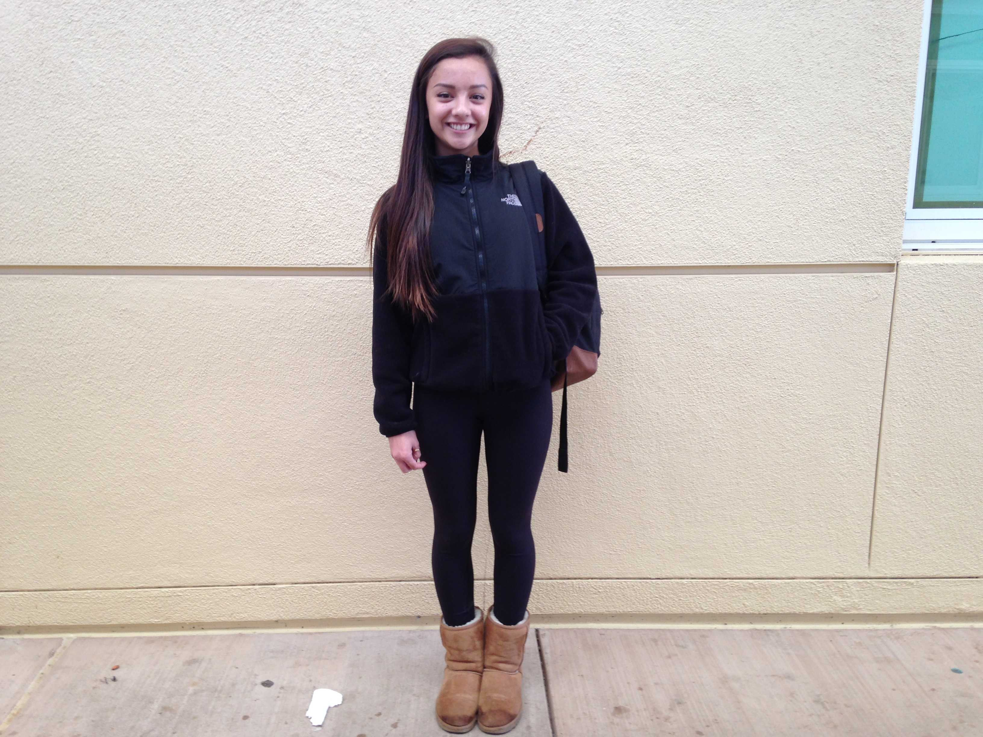 Freshman, Caileigh Mann is wearing a