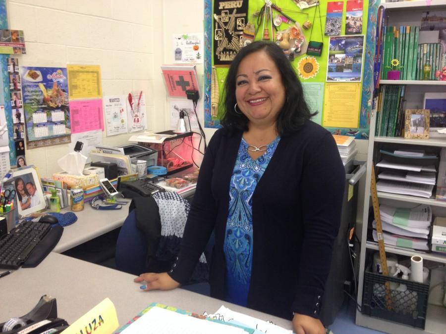 Argaluza in her classroom.