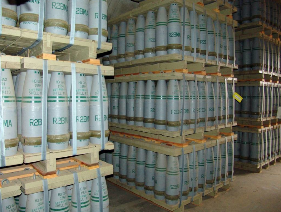 Chemical weapons in a storage facility.  Photo by www.wikipedia.org