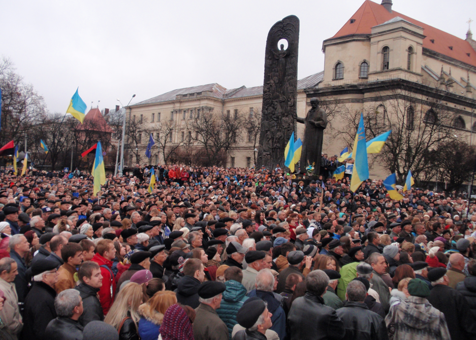 Protests in the Ukraine.  Photo by wikipedia.org