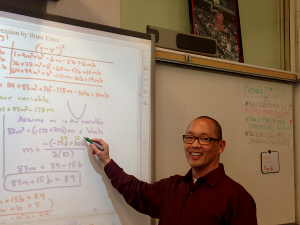 Tsuchiyama loves playing video game but takes his teaching seriously.