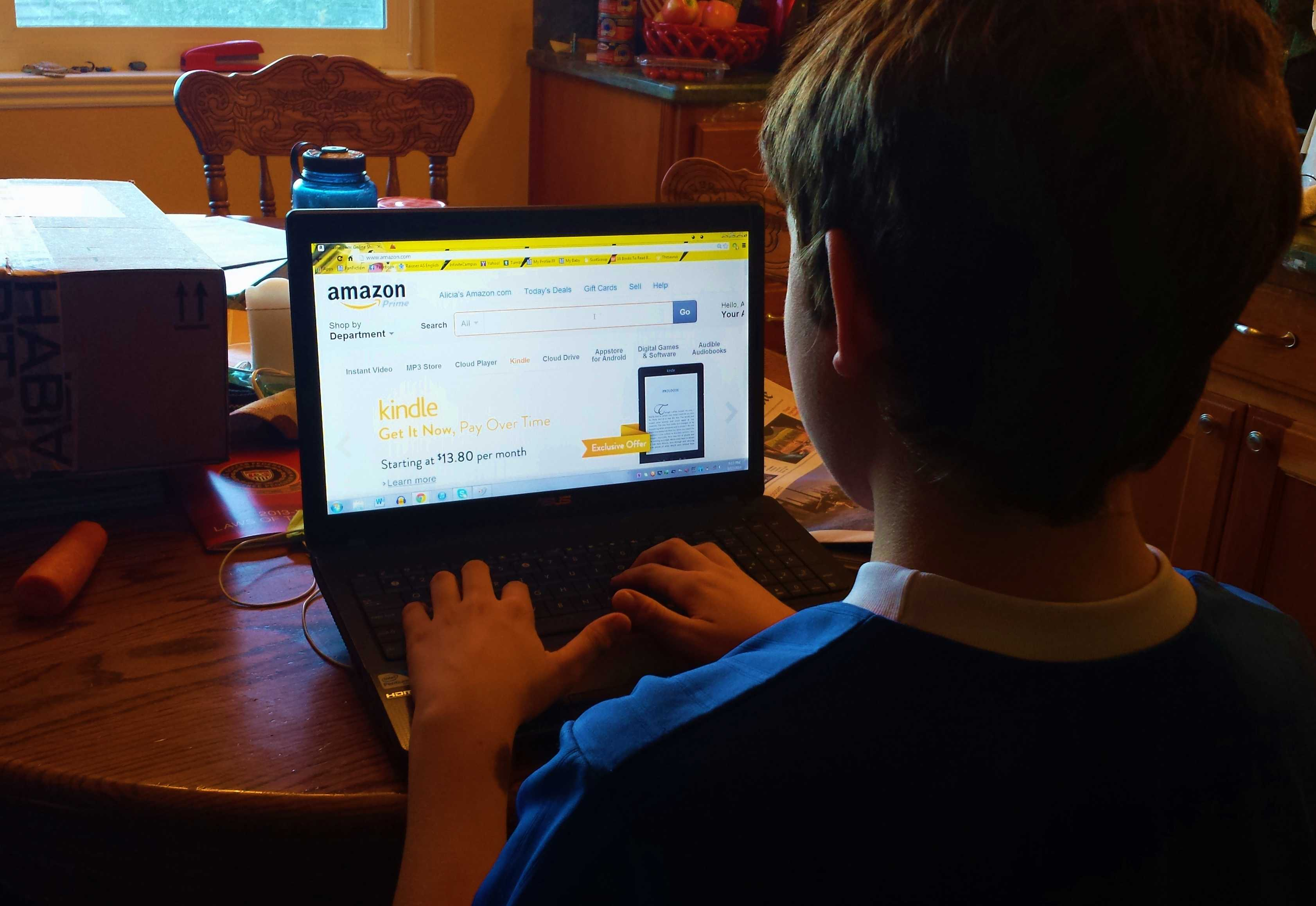Some students at Carlmont go to Amazon.com first to purchase electronics, books, and more.