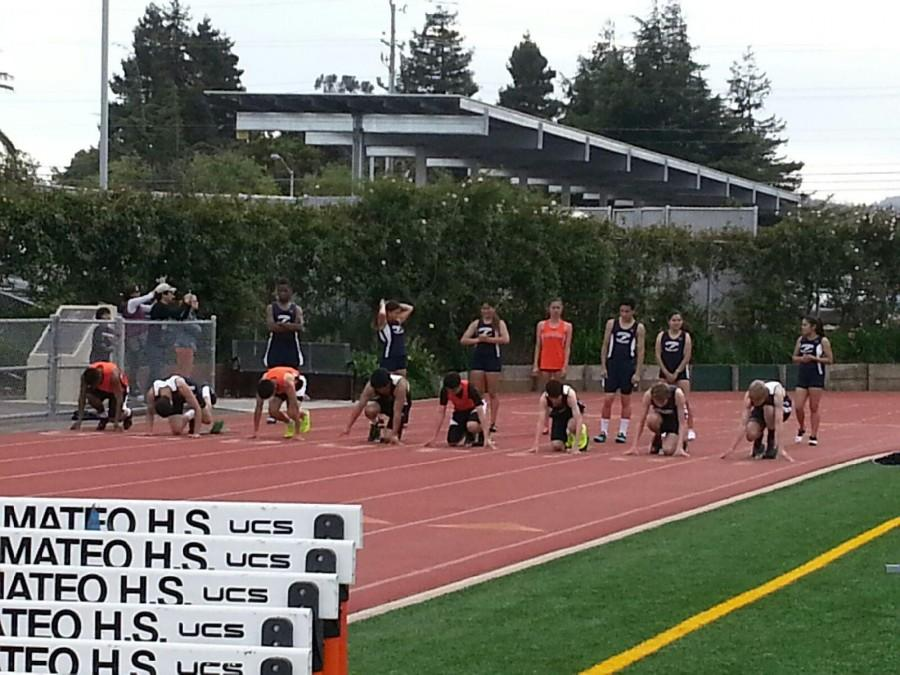 Carlmont's second meet was against San Mateo on March 20. Photo credits to Melanie Hamaguchi.