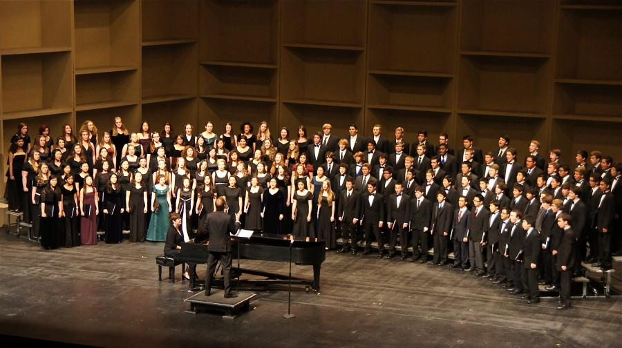 The+2014+All-State+Honor+Mixed+Choir+performs+in+Sacramento.+Photo+property+of+the+Segal+family.