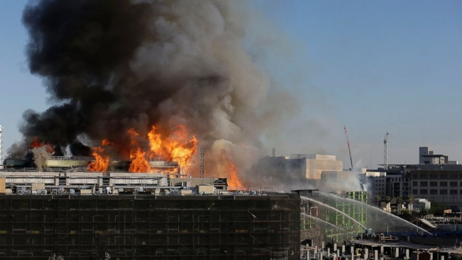 San Francisco fire burns down apartment building