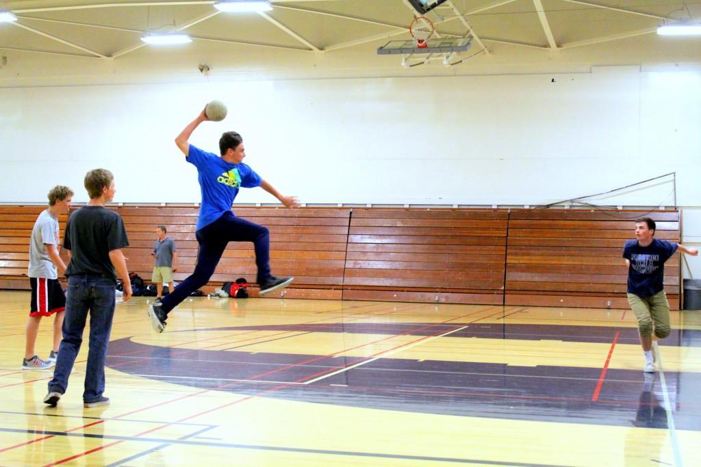 Sophomore Jacob Segal practices his jump shot.