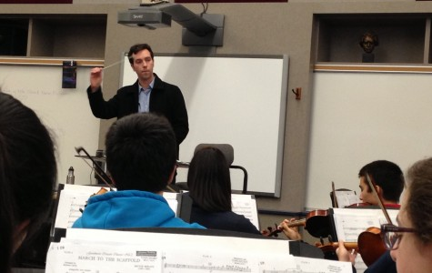 Carlmont's Symphony Orchestra rehearses with Smart.
