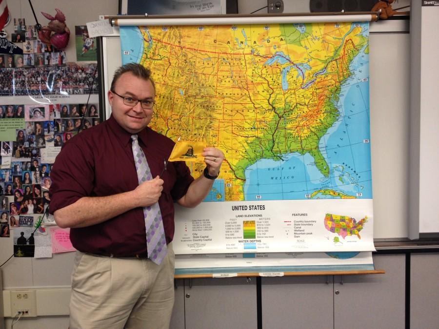 School mascot & history teacher -- Jarrod Harrison is both